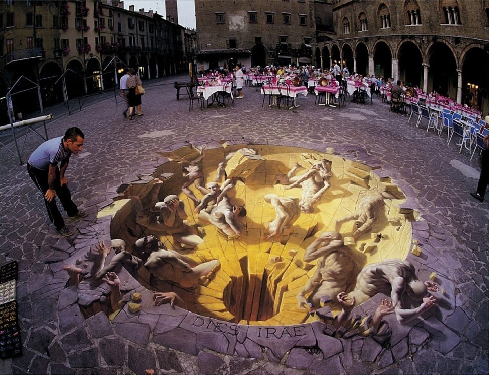 Sidewalk art by Kurt Wenner