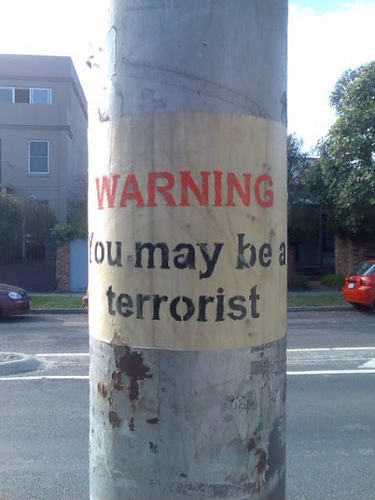 you may be a terrorist