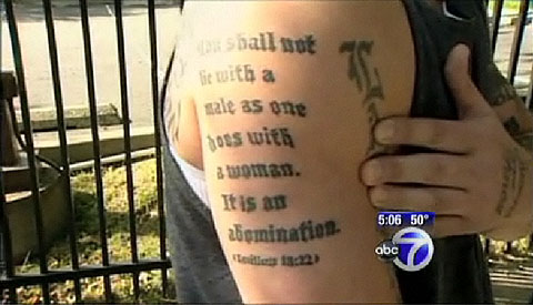 leviticus tattoo Why is this anti gay Leviticus tattoo extra absurd?