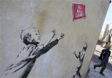 """No Ball Games"" by Banksy"