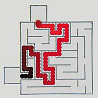 Acidic Droplet Solves Maze