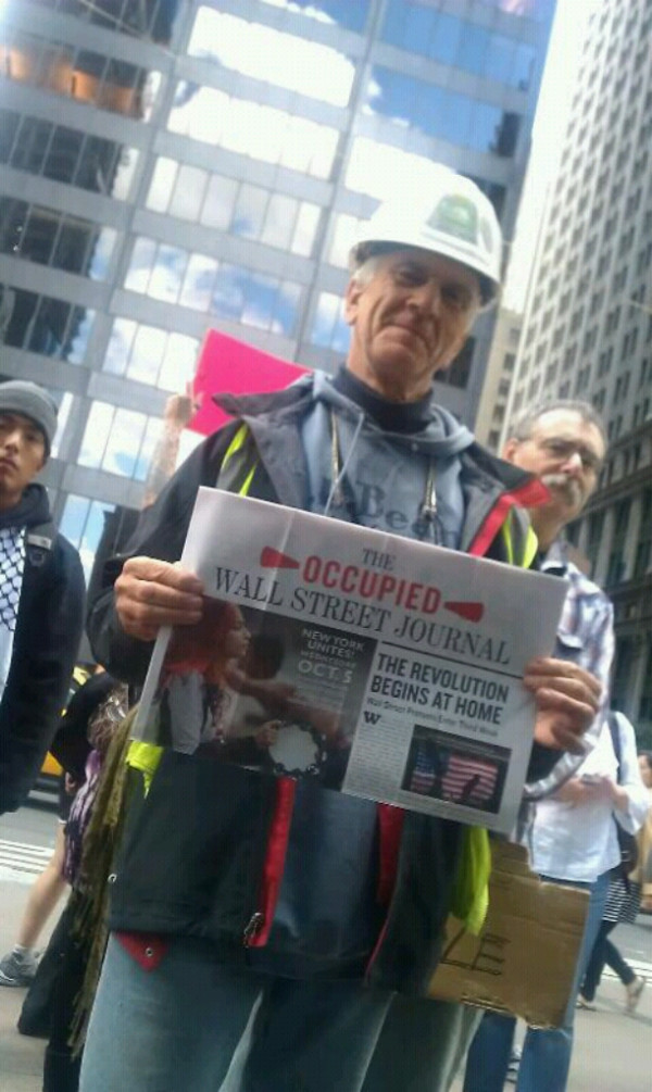 Local 40 Iron Worker at #OccupyWallStreet