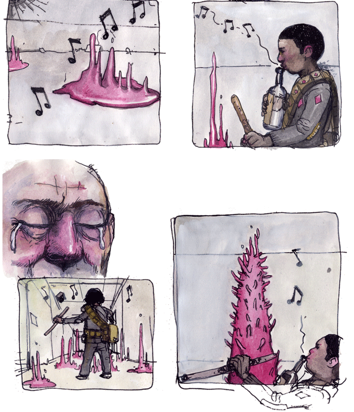 Panels from It Will All Hurt by  Farel Dalrymple