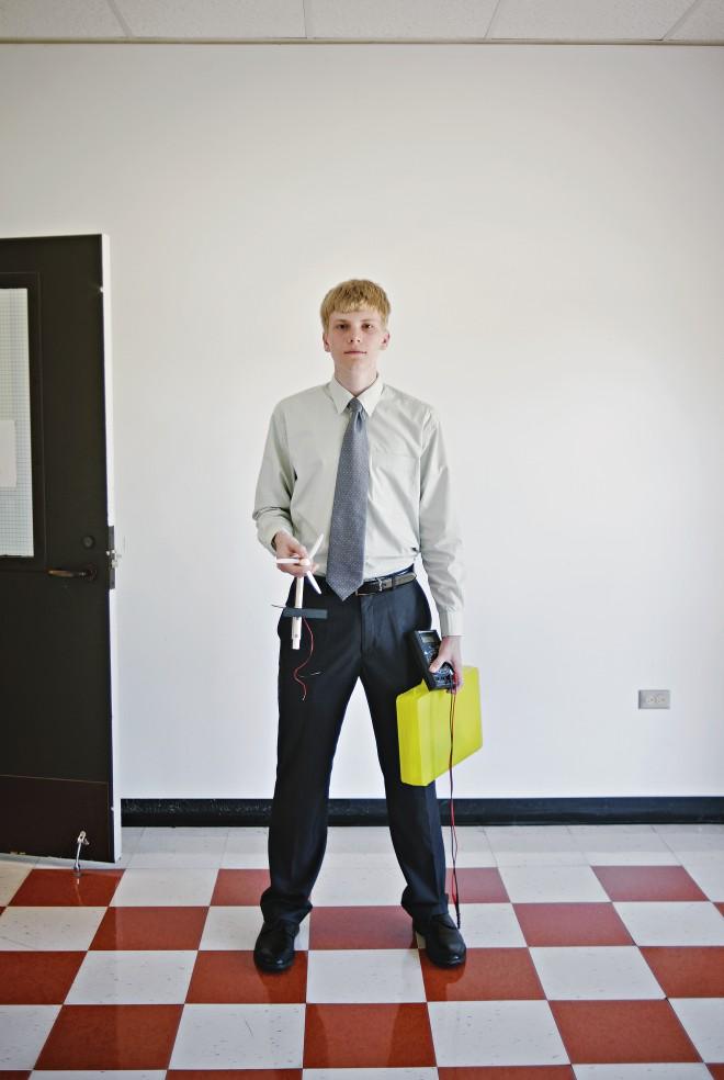 Evan, a student at IMSA