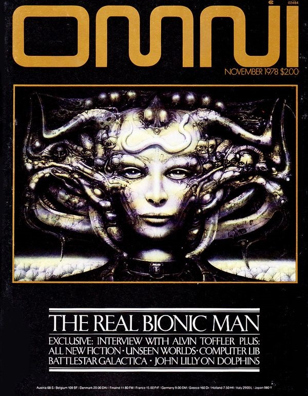 OMNI cover by HR Giger November 1978