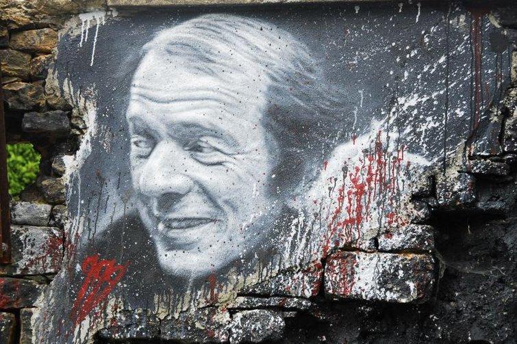 Gilles Deleuze mural