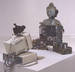 techno buddha by Nam June Paik